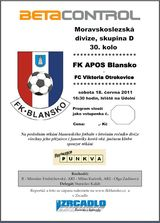 Blansko Otrokovice program